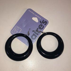 Jewelry - Black hoop earrings